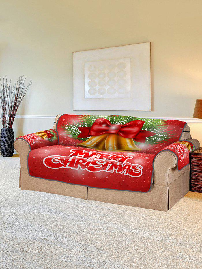 Shop Christmas Bells Pattern Couch Cover