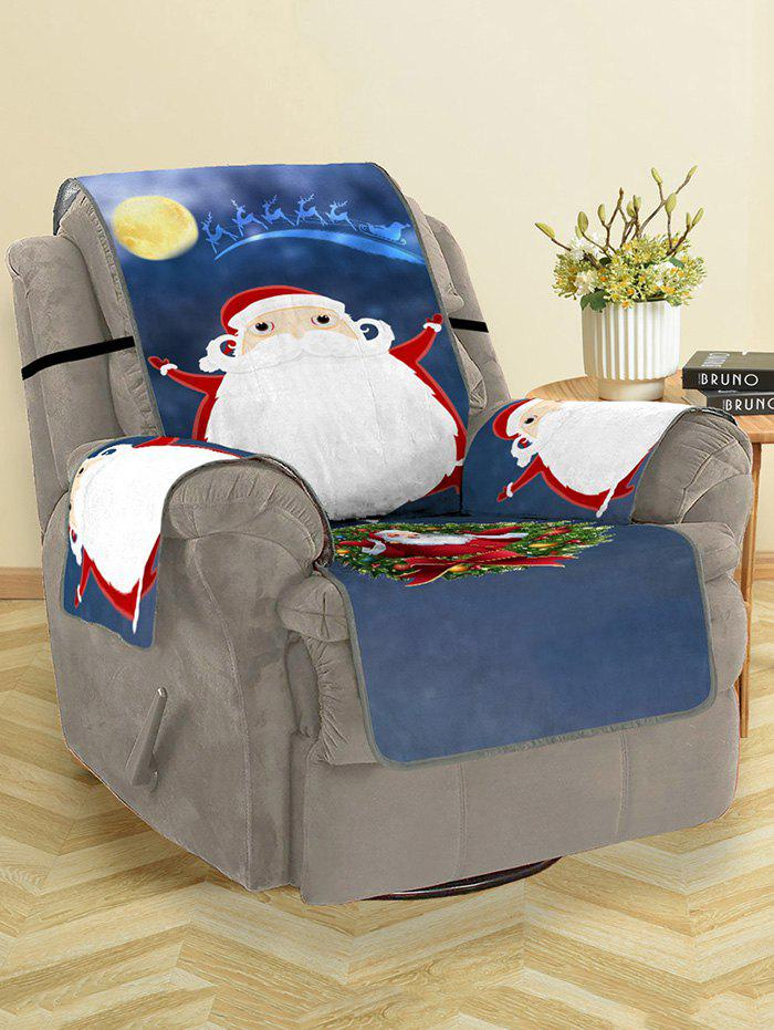 Best Christmas Night Santa Claus Print Couch Cover