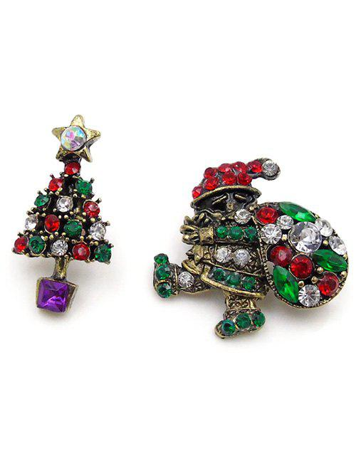 Shops 2Pcs Christmas Santa Tree Pattern Brooches