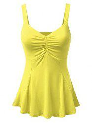 Ruched Front Plus Size Tank Top -
