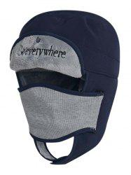 Letter Embroidery Windproof Trapper Hat -