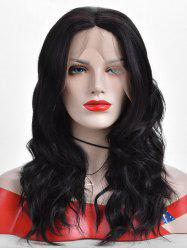 Center Parting Wavy Long Lace Front Synthetic Wig -