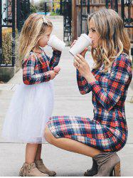 Mother and Daughter Christmas Casual Plaid Dress -