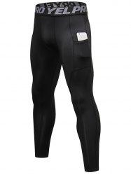 Pocket Quick-dry Tight-fitting Sport Pants -