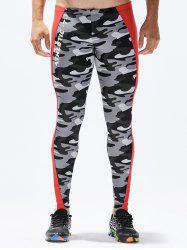 Camouflage Pattern Tight-fitting Sport Pants -