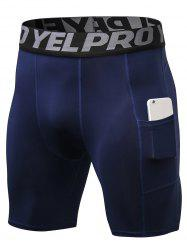 Quick Dry Stretch Tight Shorts with Pocket -
