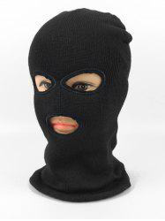 Solid Color Knitted Face Mask Sport Hat -