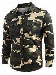 Front Pocket Button Up Camo Shirt -