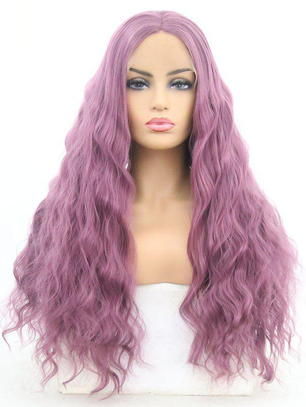 Online Middle Part Long Corn Hot Wavy Lolita Synthetic Lace Front Wig