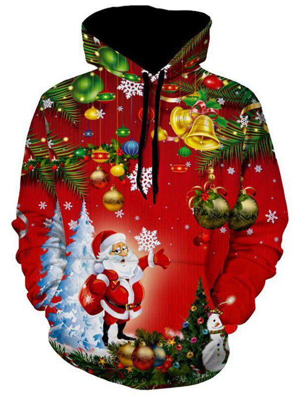 Fashion Christmas Tree Santa Jingle Bells Christmas Hoodie