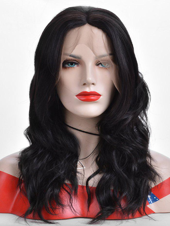 Hot Center Parting Wavy Long Lace Front Synthetic Wig