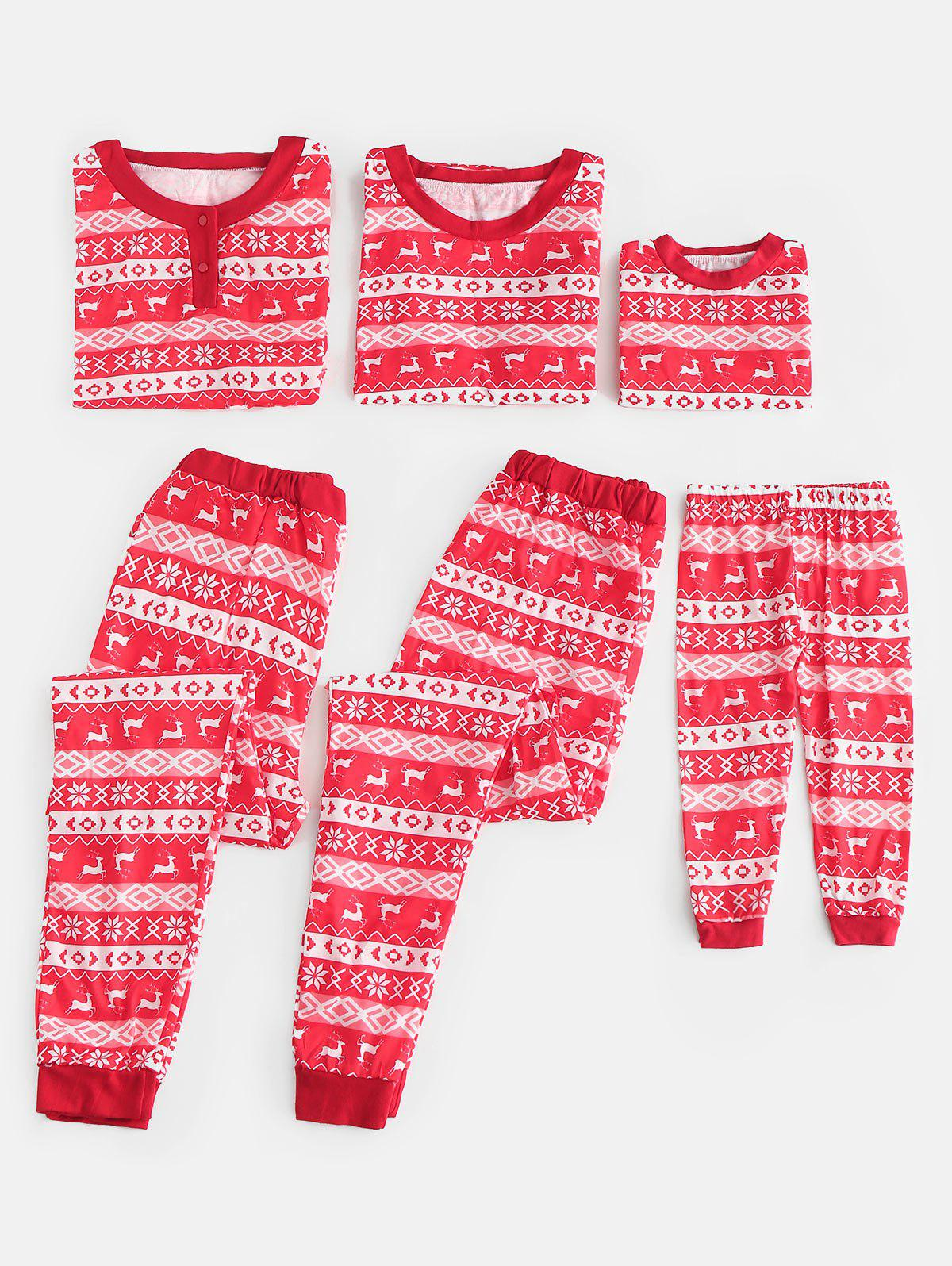 Fashion Full Print Matching Family Christmas Pajamas