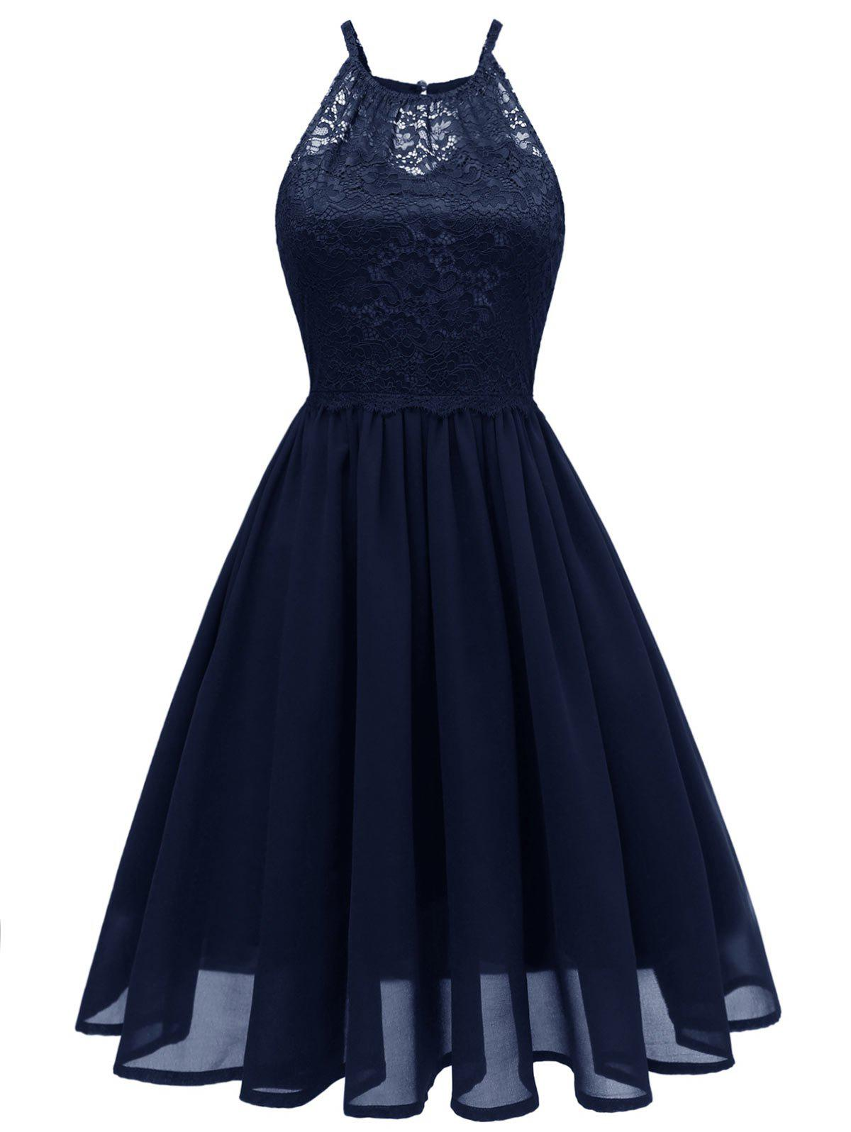 Shops Lace Bodice Fit and Flare Dress