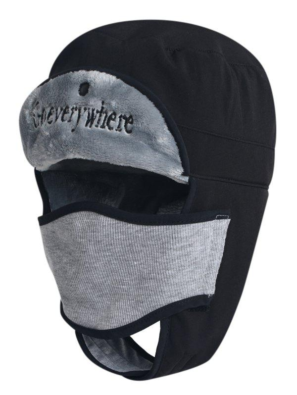 Shops Letter Embroidery Windproof Trapper Hat