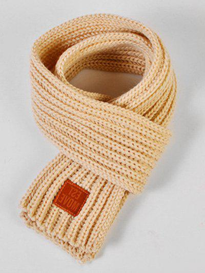 Chic Winter Solid Color Knitted Kids Scarf