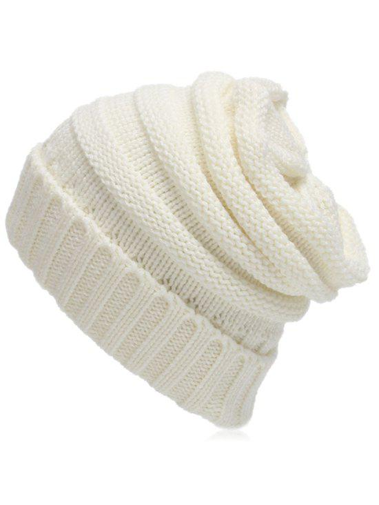 Solid Color Flanging Baggy Beanie