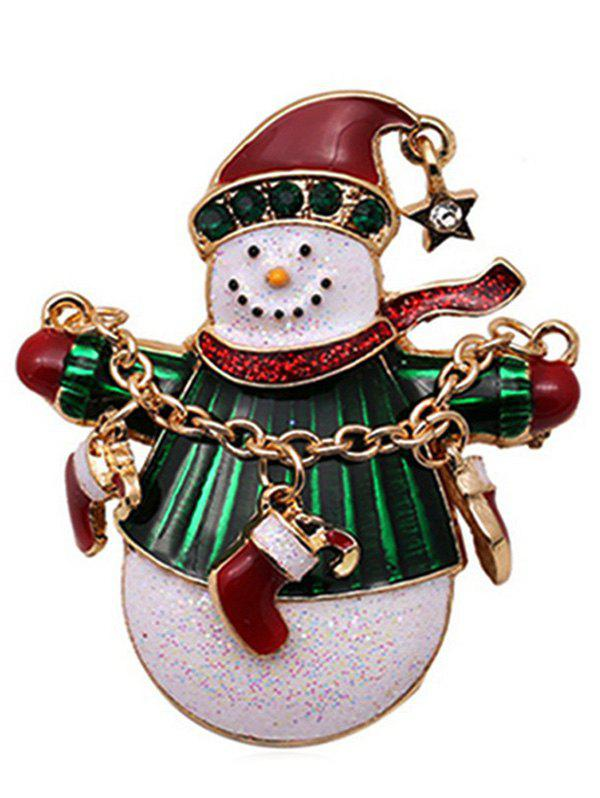 Outfits Christmas Snowman Shape Enamel Brooch