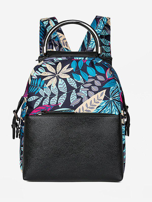 Online Statement Floral and Star Pattern Backpack