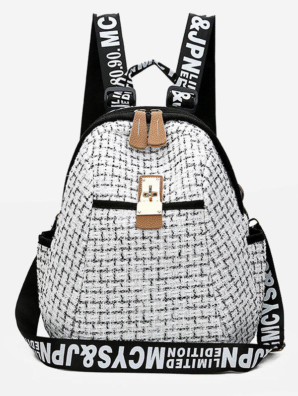 Online Letter and Plaid Printed Backpack