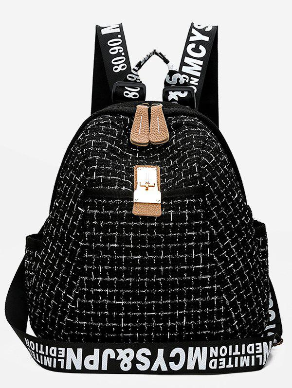 Discount Letter and Plaid Printed Backpack