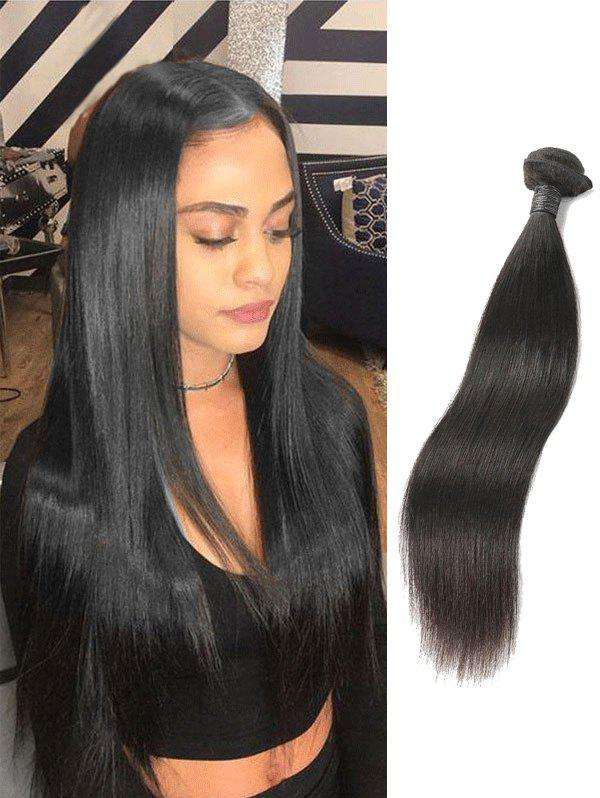 Online 1Pc Straight Peruvian Virgin Real Human Hair Weave