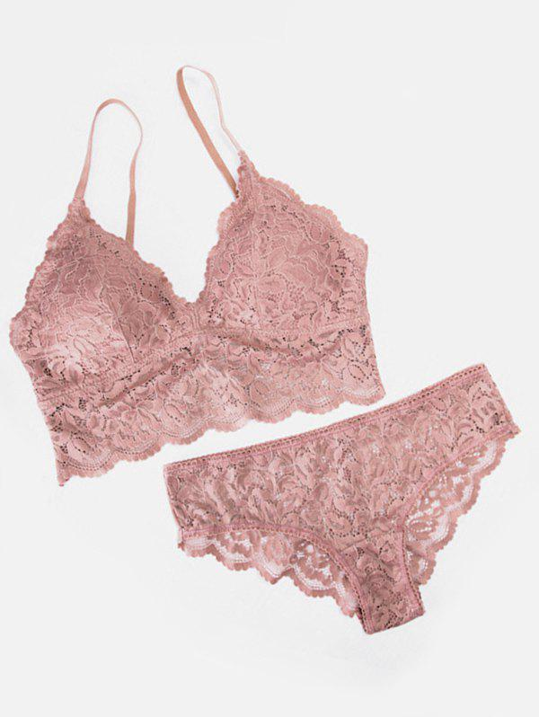 Affordable Padded Lace Bra Set