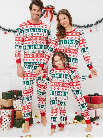 684c5656e91e Christmas Geometric Pattern Family Pajama Sets
