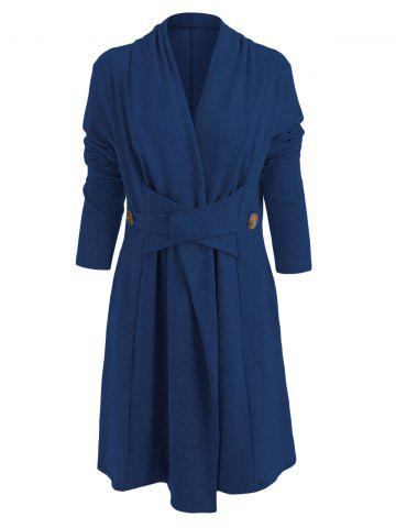 Button Long Duster Cardigan