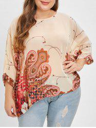 Plus Size Scoop Neck Dolman Sleeve Women's Casual Blouse -