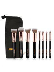 8 Pcs Soft Hair Cosmetic Brush Suit with Brush Storage Bag -