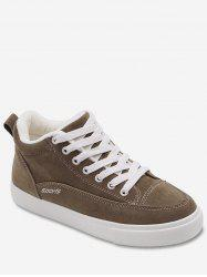 Mid Top Suede Flat Sneakers -