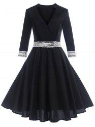 Vintage Contrast Trim Pin Up Dress -