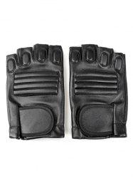 Outdoor Faux Leather Fingerless Sport Gloves -