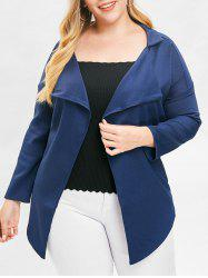 Plus Size Open Front Asymmetric Jacket -
