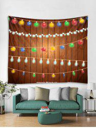 Christmas String Lights Print Tapestry Wall Hanging Decoration -