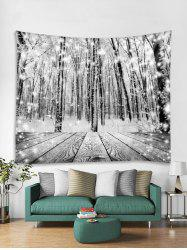 Christmas Snow Wooden Tapestry Art Decoration -