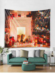 3D Christmas Tree Candle Gift Tapestry Art Decoration -