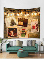 3D Christmas Gift Light Wall Tapestry Art Decoration -