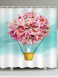 Flower Rabbit Waterproof Shower Curtain -