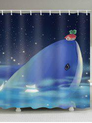 Star Whale Waterproof Shower Curtain -