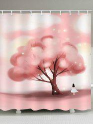 Cute Tree Waterproof Shower Curtain -