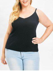 Plus Size Ribbed Cami Top -