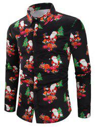 Christmas Santa Candy Gifts Baubles Print Casual Shirt -