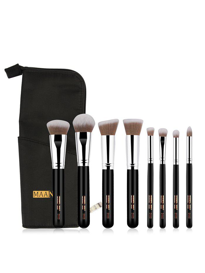 New 8 Pcs Soft Hair Cosmetic Brush Suit with Brush Storage Bag