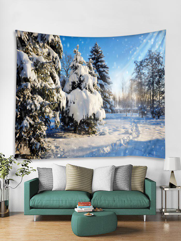 Affordable Christmas Snow Forest Pattern Tapestry Art Decoration