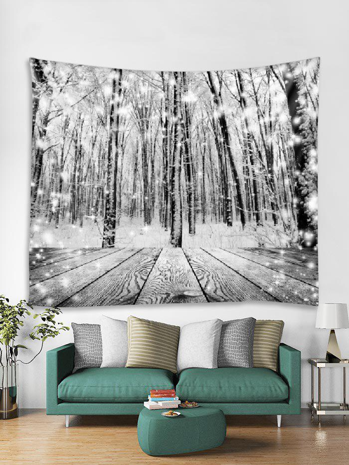 Latest Christmas Snow Wooden Tapestry Art Decoration
