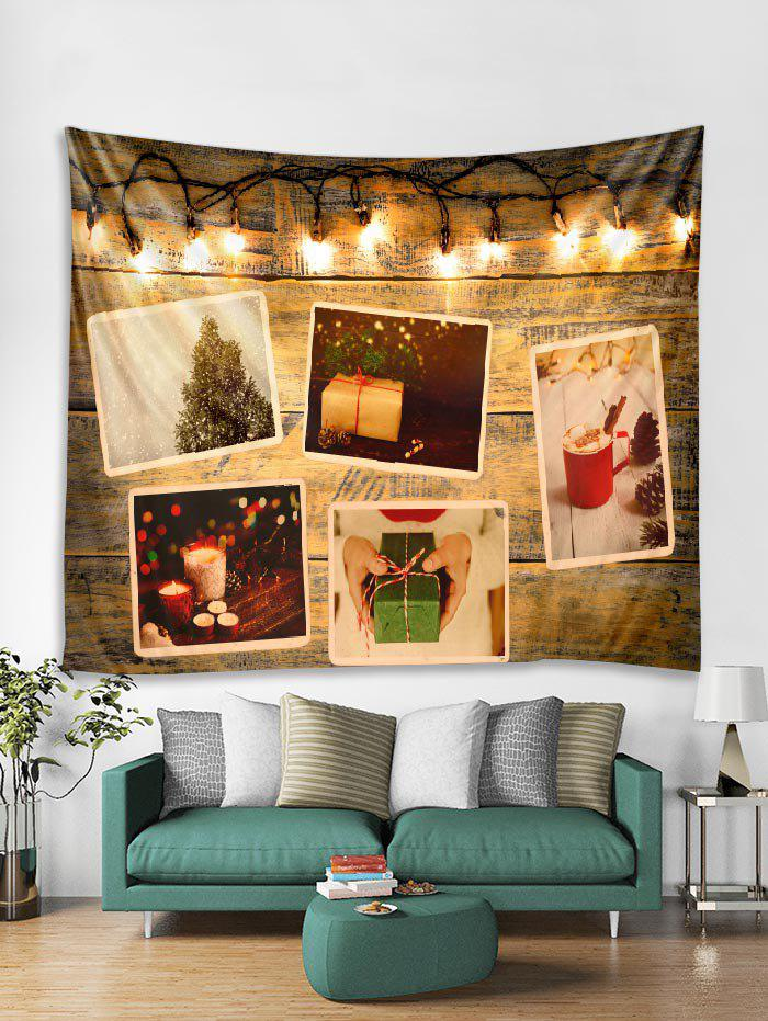 Online 3D Christmas Gift Light Wall Tapestry Art Decoration