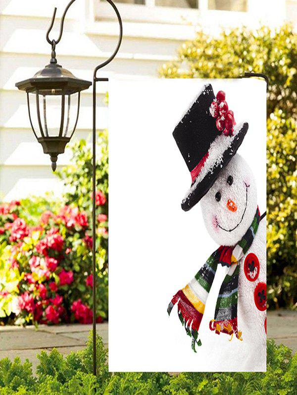 Chic Christmas Hatted Snowman Print Garden Flag