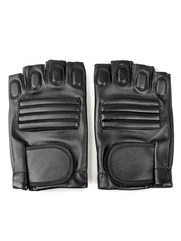 Outfit Outdoor Faux Leather Fingerless Sport Gloves