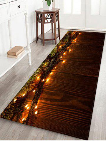 Christmas Wooden Light Printed Floor Mat